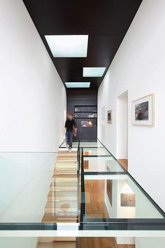 How do you add the ultimate talking point to an interior.add a glass floor! I so love the idea of glass floor panels and bridges that link different spaces! Architecture Design, Contemporary Architecture, Installation Architecture, Amazing Architecture, Building Architecture, Modern Contemporary, Design Exterior, Interior And Exterior, Modern Interior