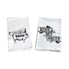 Grits, scrambled eggs, two slices of bacon, please. That's a traditional breakfast that you can eat day after day. Make it even better by adding these charming tea towels to your kitchen for cleaning u...  Find the Breakfast Tea Towels - Set of 2, as seen in the Season Your Kitchen with Nostalgia Collection at http://dotandbo.com/collections/season-your-kitchen-with-nostalgia?utm_source=pinterest&utm_medium=organic&db_sku=97904