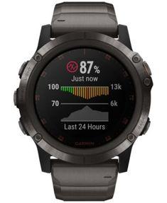 be5125855ec Garmin Unisex fenix 5x Plus Gray Silicone Strap Smart Watch 51mm - Gray  Relógio Inteligente