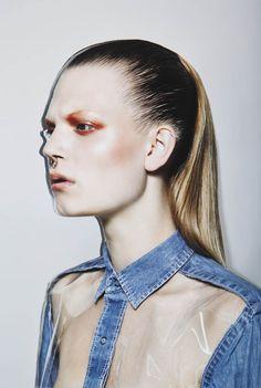 ' Denim ' Sarah @ Elvis Models para Vision Magazine China 2013 por Carmen Kemmink ph.