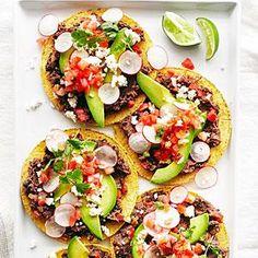 Black Bean Tostadas Recipe | MyRecipes.com