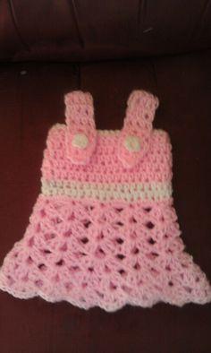 Newborn crochet infant sundress