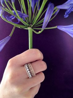 Diamond Stackable Rings/Wedding Bands