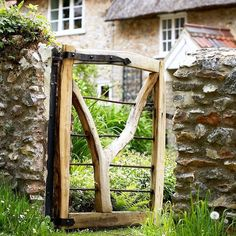 "3,062 Likes, 20 Comments - Country Living UK | (@countrylivinguk) on Instagram: ""An unusual rustic gate is a good way to stamp individuality onto a garden. Greenwood, where the…"""
