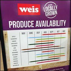 Produce Availability Seasonal Calendar – Fixtures Close Up Shop Local, Calendar, Retail, Seasons, Purple, Color, Colour, Seasons Of The Year, Purple Stuff