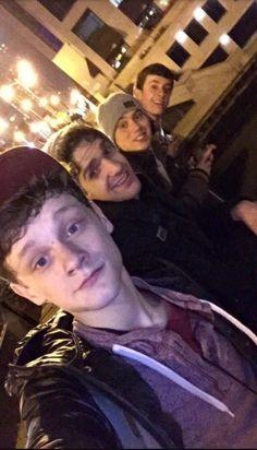 Newsies tour cast- Ben, Dan, Sky & Josh