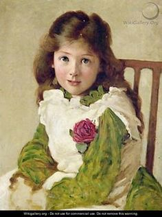 British Paintings: George Dunlop Leslie - Portrait of the Artists Daughter