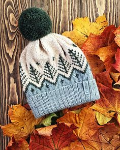 hat patterns colorwork KNITTING PATTERN /Knit Fair Isle hat/ Fair Isle hat with pompom/ Stranded colorwork hat pattern/ Scandinavian Hat/ Fair isle hat pattern Knitting Designs, Knitting Stitches, Knitting Yarn, Knitting Projects, Crochet Projects, Crochet Beanie Hat, Knitted Hats, Knit Crochet, Crochet Hats
