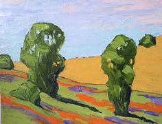 Impressionist Painting California Plein Air by lynnefrenchdesigns, $78.00