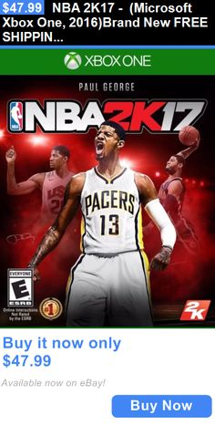 Video Gaming: Nba 2K17 - (Microsoft Xbox One, 2016)Brand New Free Shipping BUY IT NOW ONLY: $47.99