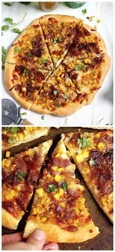 Bacon, Corn, and Caramelized Onion Pizza - this is SUMMER on pizza crust! The best way to use up fresh Summer corn!!!