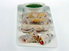 Fruit Spring Rolls Recipe : Giada De Laurentiis : Food Network - FoodNetwork.com