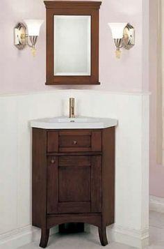 Corner Bathroom Vanity Sink  New House Dreams  Pinterest Custom Small Bathroom Corner Vanity Design Inspiration