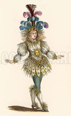 Louis XIV, King OF France in theatre costume as 'Le Roi Soleil' (the Sun King). Date 1638-1715.