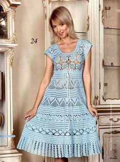 Hermosos vestidos para salir a pasear, elige tu modelo y teje!!!!