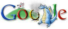 Apr 2008 St. George's Day 2008 Google Doodle