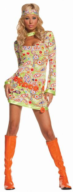 Sexy 70s Groovy Chick Costume 70s Costumes for Women - Mr. Costumes