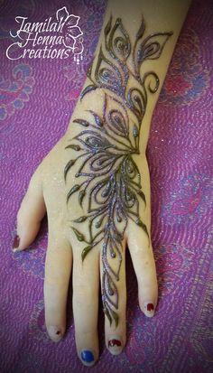 peacock inspired henna www.JamilahHennaCreations.com