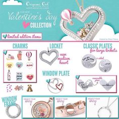 Valentine's Day Collection by Origami Owl! Check it out! #origamiowl #valentinesday #love #locket