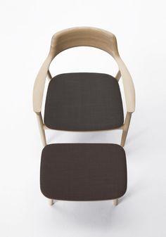 Hiroshima Lounge Chair with Ottoman by Naoto Fukasawa