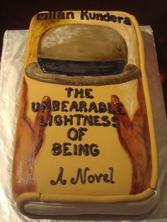 Unbearable Lightness of Being cake by Candice Beautiful Cakes, Amazing Cakes, Book Cakes, Vanilla Frosting, Painted Cakes, Cake Cover, Edible Cake, Cupcake Cookies, Cupcakes