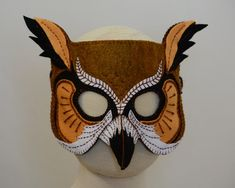 Owl Mask PDF Pattern by oxeyedaisey on Etsy