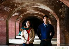 Tomoko + Vince Fort Point Engagement Shoot