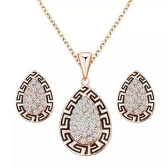 Egyptian Style Necklace And Earring Set