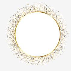 Gold Confetti Circle Frame Border Design Vector and PNG Sparkle Png, Adobe Illustrator, Glitter Frame, Gold Glitter, Gold Nails, Frame Border Design, Circle Design, Circle Borders, Framed Wallpaper