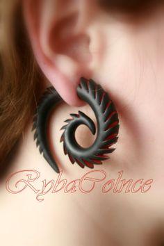 Fake ear gauges / Faux gauge/Gauges earrings / fake by RybaColnce