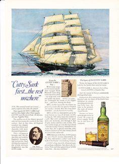 Vintage AD 1980s /'CUTTY SARK/' Scots Whisky ADVERT #1
