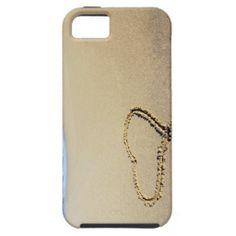 Herz im Sand iPhone 5 Schutzhüllen #zazzle #Geschenkidee