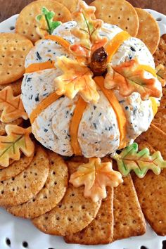 Cheddar and Chive Pumpkin Cheese Ball