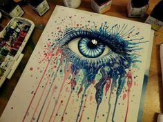 Colorful Eye Drawing