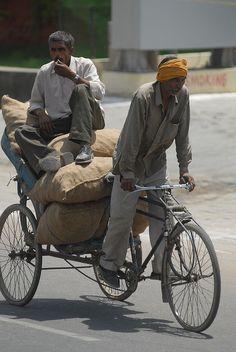 rickshaw carrying cargo