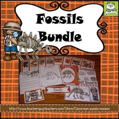 This is a great unit to teach Fossils on the elementary level. It has been updated on 6/27/17 to meet the new Georgia Third Grade Science Standards of Excellence for S3E2. This combines several of my fossil products together to save you some money.