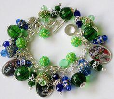 Seattle Seahawks charm bracelet