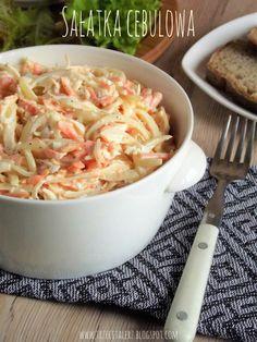 Sałatka cebulowa - kuchnia podkarpacka