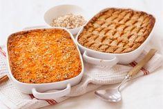 Porkkanalaatikko - Finnish carrot casserole. Traditional Christmas food.