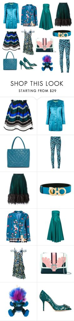 """Blue Blowing"" by donna-wang1 ❤ liked on Polyvore featuring Fendi, Yves Saint Laurent, NIKE, Marco de Vincenzo, Salvatore Ferragamo, VIVETTA, TIBI, Peter Pilotto, Paula Cademartori and Burberry"