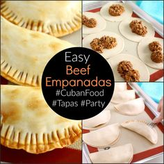 These easy to make Beef Empanadas are worth a second look with updated post text and all new images. These Beef Empanadas are also extremely easy to make and are a great addition to any tapas or party menu. Tapas, Beef Empanadas, Comida Latina, Le Diner, Mexican Dishes, Mexican Meals, Mets, Beef Dishes, Ground Beef Recipes