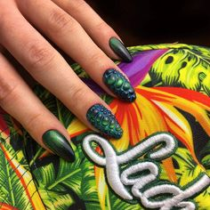 Snake + Cat Eye Gel Brush Rio de Janeiro by Indigo Educator Anna Leśniewska Dream Catcher Nails, Cat Eye Gel, Indigo Nails, Best Salon, Welcome To The Jungle, Nail Arts, Toe Nails, Nails Inspiration, How To Do Nails