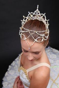 Ballet Nikiya (La Bayadere) Tiara - Crystal Buy Dance tiaras, Swarovski crystal beaded headpieces for ballet dancers