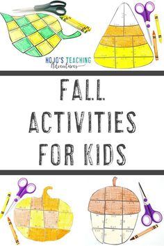 These fall activities for kids are sure to be a hit in the 1st, 2nd, 3rd, 4th, 5th, 6th, 7th, or 8th grade elementary or middle school classroom or homeschool. Click through for math and literacy puzzles, book ideas, a FREE download, writing prompts, editable options, bulletin boards, and more. Great for September, October, or November autumn fun learing. Pumpkins, leaves, candy corn, apples, acorns, and Grandparents Day ideas are all included here. #FallActivities #FallFun Montessori Activities, Teaching Activities, Teaching Kindergarten, Classroom Activities, Educational Activities, Teaching Ideas, Classroom Ideas, 3rd Grade Classroom, Middle School Classroom