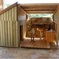 DIY outdoor dog beds for large dogs Big Dog House. I want one for my boxers so bad! Big Dog House, Tiny House, Puppy House, Wooden Dog House, Winter Dog House, Heated Dog House, Large Dog House Plans, Dog House With Porch, Warm Dog House