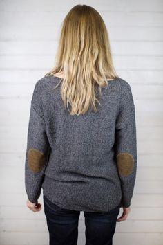 Gunmetal Twist Pullover Sweater #shopmaude www.shopmaude.com