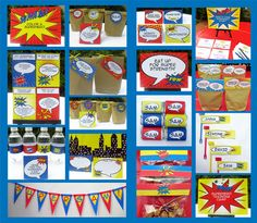 Superhero Printable Birthday Invitation & Party Collection