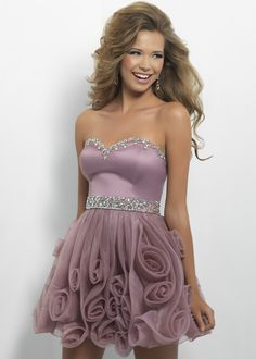 Free Shipping on Blush Prom 9668 pink strapless sweetheart homecoming dresses available now at RissyRoos.com