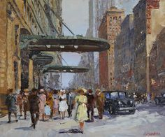 Painter Irina Alexandrina,  Old New York.