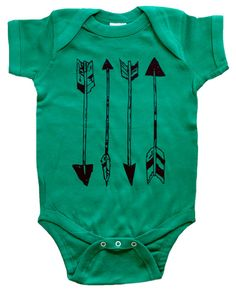 Arrows - Cool Baby Clothes - One Piece Bodysuit Romper  - Children's Clothing - Hipster Baby Shirt - Boys Clothing - Girls Clothing $15